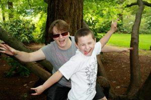 With my son Wyatt at Lacamas Lake. 2012