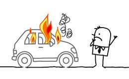 man-watching-burning-car-hand-drawn-cartoon-characters-34108184