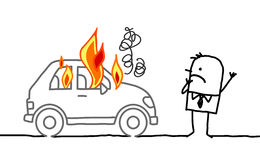 man-watching-burning-car-hand-drawn-cartoon-characters-34108184
